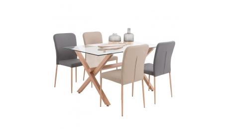 Τραπέζι γυάλινο  618-16-010 140x80cm