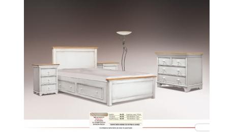 Διπλό Κρεβάτι ξύλινο No90