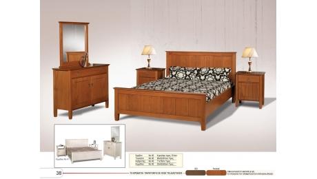 Διπλό Κρεβάτι ξύλινο No40