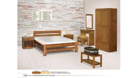 Kρεβάτι ξύλινο Νο08