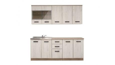 ΚΟΥΖΙΝΑ Kent 200 Grey Oak-White Oak 200*60/31*217(82/74.5)