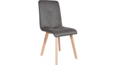 Καρέκλα Τ16 γκρι ύφασμα φυσικό χρώμα ποδια 839-82-628