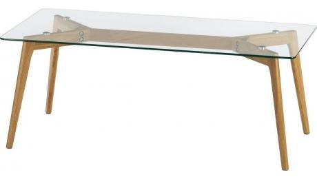 Τραπεζάκι σαλονιου Ξυλο με γυαλι 3-50-994-0017