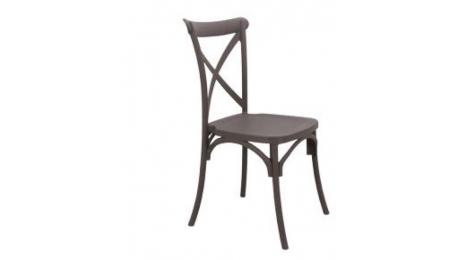 Καρέκλα πολυπροπυλενιου με χιαστι PP/713/3