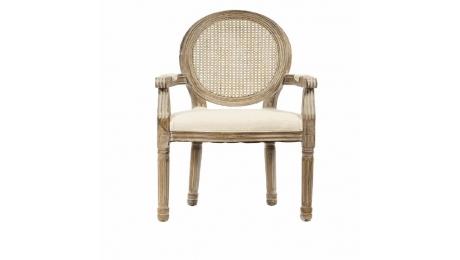 Πολυθρόνα Αντικε ξύλο-ψαθα 715-3074