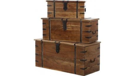 Κουτιά αποθήκευσης ξύλινα σετ 720-1183