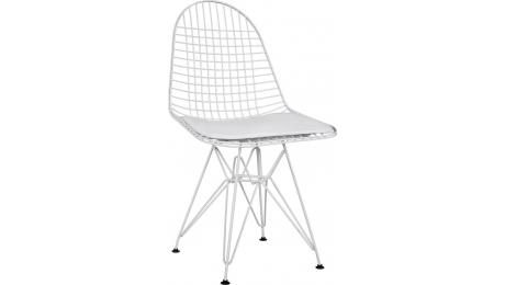 Καρέκλα Μεταλλική Λευκή με Μαξιλάρι HM8230.01