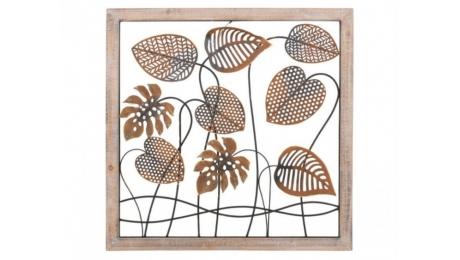 Μεταλλικός πίνακας σε ξύλινο κάδρο 128-92-015 80x80cm