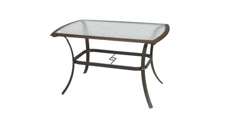 Τραπέζι με Rattan 140*80*72  410-11-006