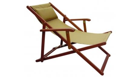 Πολυθρόνα Relax από Ξύλο με Μαξιλαράκι