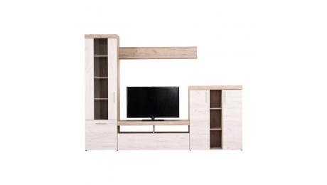 Σύνθεση τηλεόρασης ARNO Grey Oak-White Oak 262*35*195